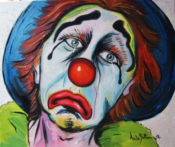 peinture de clowns recherche google clowns pinterest peinture triste et recherche google. Black Bedroom Furniture Sets. Home Design Ideas