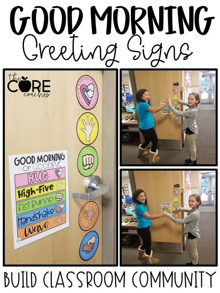 Editable Morning Greeting Signs to Build Classroom…