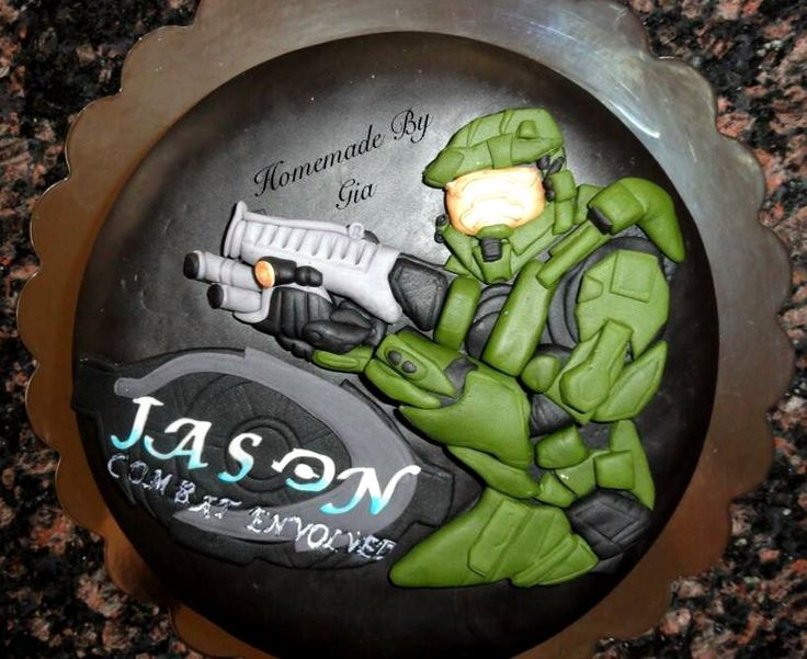 Halo themed cake