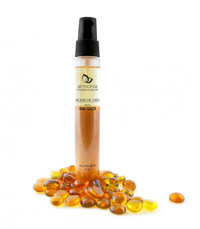Aceite seco de oro / Hidratante con efecto Sun touch.