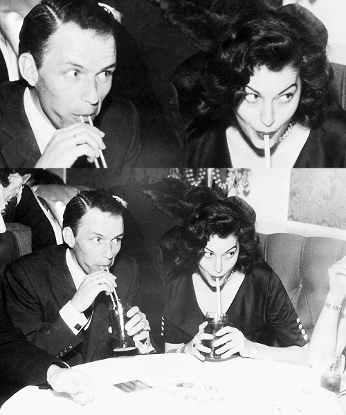 Ava with her husband, Frank Sinatra.  I've always been taken with the details in her top -- collar, button sleeves, v-neckline.  #modcloth #styleicon: Ava Gardner, Lovers Boys, Modcloth Styleicon, Vintage Photography, Time Contest, Style Icons, Buttons Sleeve, Frank Sinatra