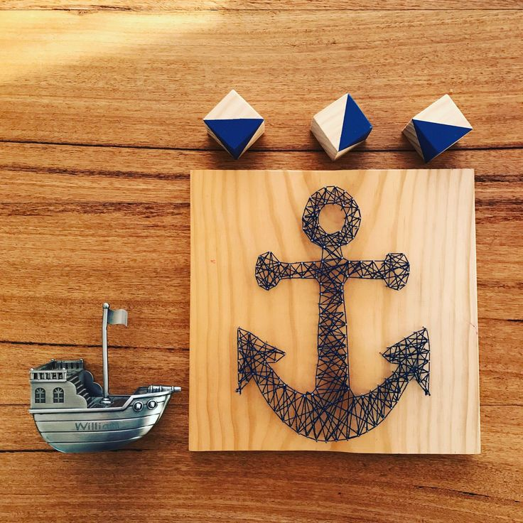 anchor nautical Baby NurseryKids Room String Art