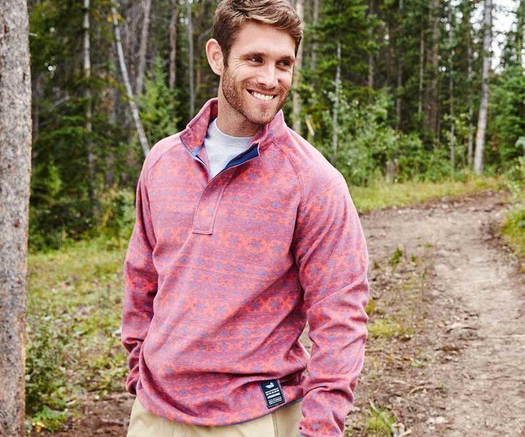 Southern Marsh Monmouth Flurry Quarter Zip Fleece Pullover in Red