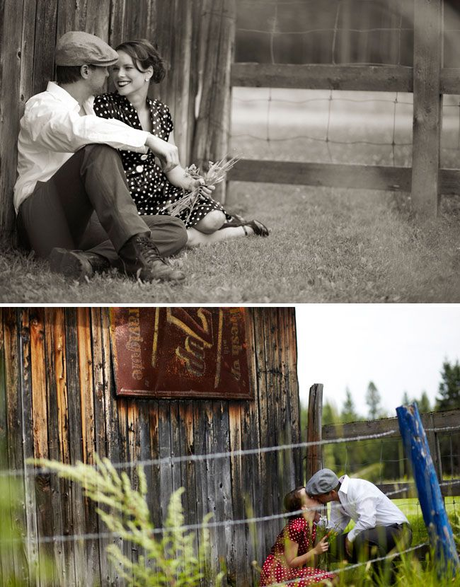 """Very cool engagement photo session inspired by the movie """"The Notebook"""". This site features many awesome photo shoots of engagements, weddings, and anniversaries by various photographers."""