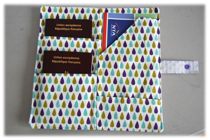 pochette passeport 15 / tuto debo creation