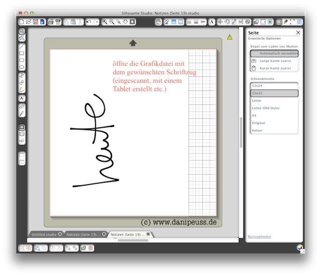 Schriftzug in deiner Handschrift mit der Silhouette Cameo ausschneiden // http://danipeuss.blogspot.de
