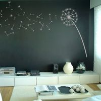 Wall DecalsWall Art, Chalkboards Painting, Wall Decals, Girls Room, Chalk Boards, Baby Room, Wall Stickers, Dandelions, Chalkboards Wall
