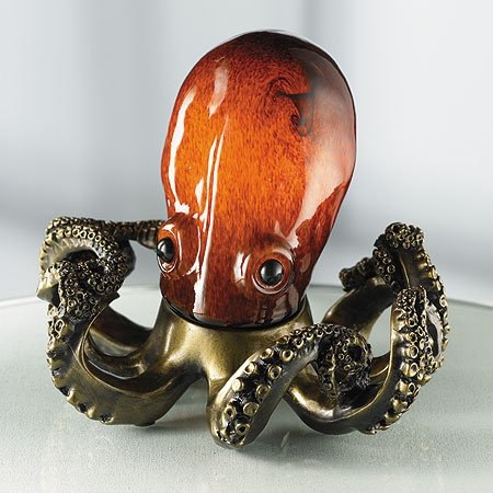Octopus Accent Lamp.  This is so totally funky, I love it!
