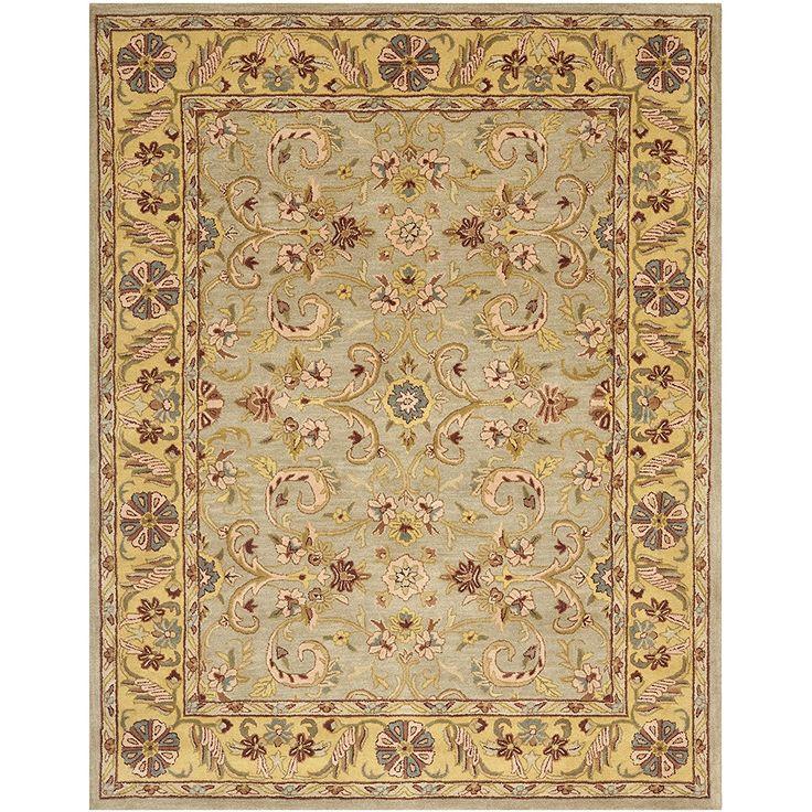 Safavieh Handmade Heritage Kerman Grey Gold Wool Rug 6 X 9 At