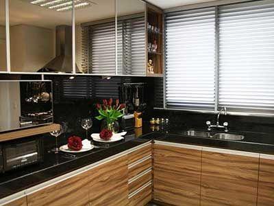 Cozinhas modernas com granito preto!