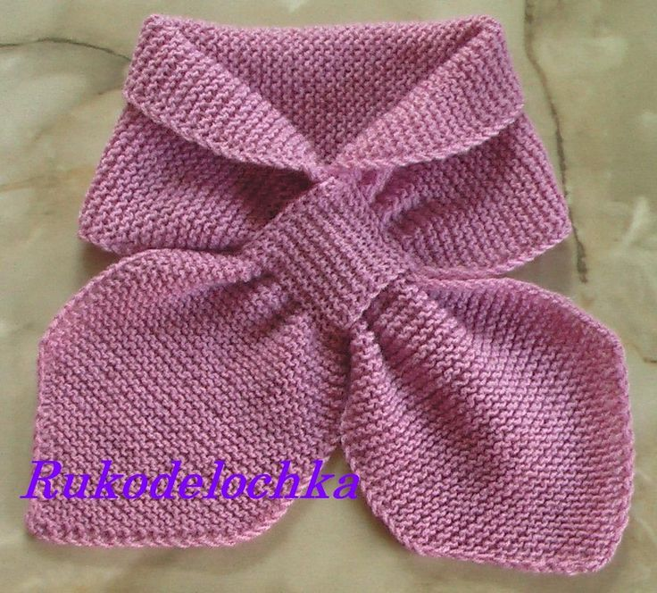 Шарф с двойной петлёй  Excellent tutorial on how to knit a ladies neck scarf.