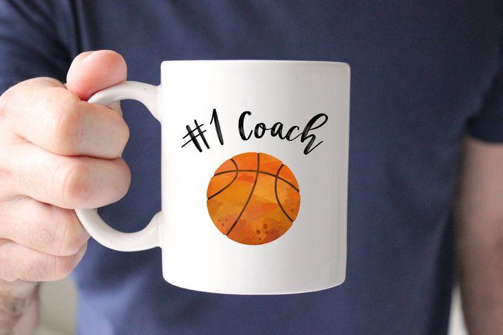 Basketball Coach Mug, Number 1 Coach Mug, Best Coach, Gift for Coach, Coach Gift, Present, Coffee Mug, Thank you, From Team, Basketball Mug by SweetMintHandmade on Etsy https://www.etsy.com/listing/578254855/basketball-coach-mug-number-1-coach-mug