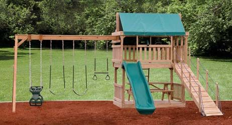 If you have a kid at home and still did not make any preparations for his/her playing outdoors, its time to get Wooden Swing Sets for kids.