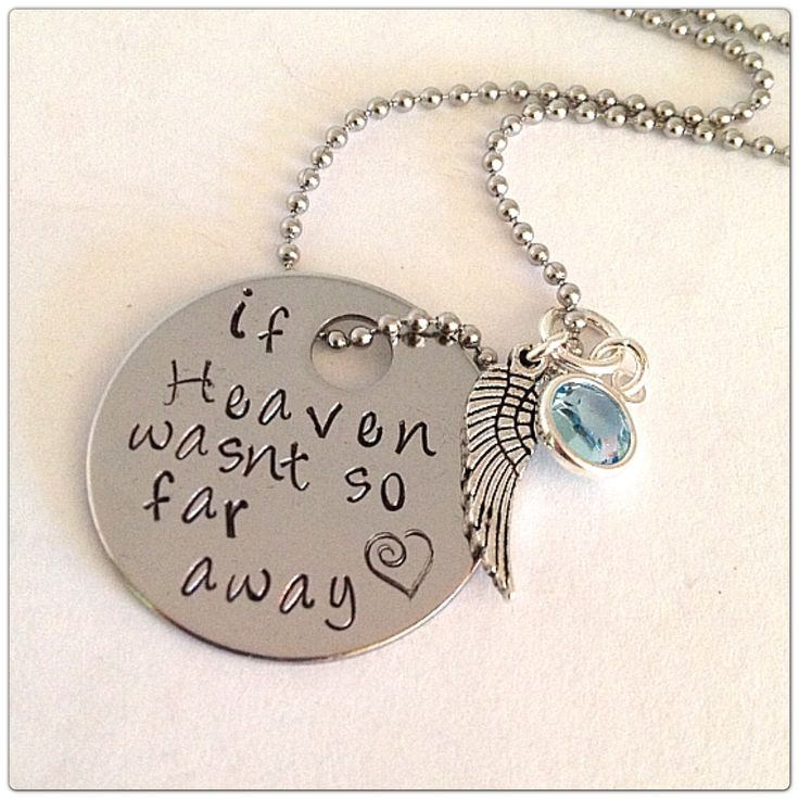 SALE VeryJane If Heaven wasn't so far away hand by dotsofsugar, $12.00