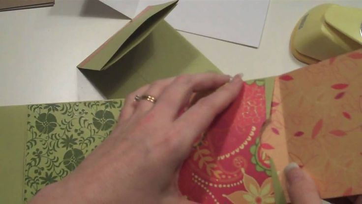 Long Envelope Mini Scrapbook Album Tutorial