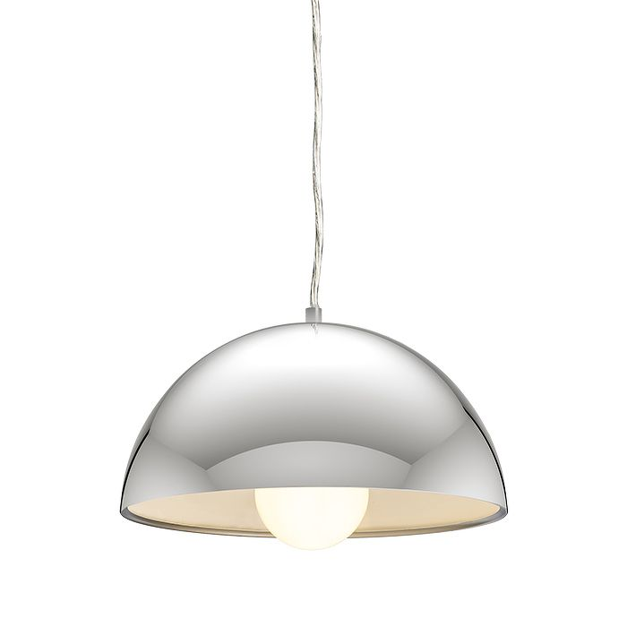 SINTRA 30 pendant chrome 230V E27 42W. Our code: R11698.  Pendant with a chromed metal shade, available in two sizes.  #rendl_lighting #lightdesign#interiordesign #interiorinspiration#lighting #interiordecor #lamp#homedecor #moderndesign #chandelier#tracklighting #interiorlighting#dreamhome #belysning #minimaldesign#minimal #moderndesign #interiors#designerlighting #contemporarydesign#designideas #minimal#contemporaryinterior #moderninteriordesign