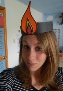 Pinksteren: er verschenen vlammen boven hun hoofd.