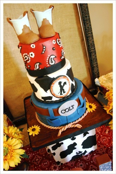 Cowboy... Baby Shower.. How cute!