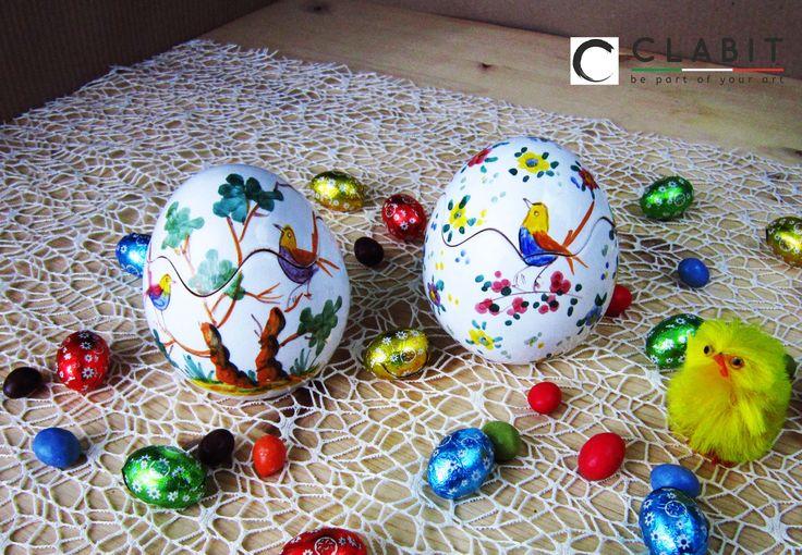 #Easter #Abruzzo #Pasqua #flowers #ceramic #handmade #fiori #flowers #birds #trees #uccellini #alberi