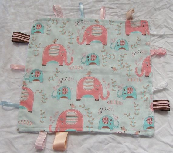 baby girls taggie blanket featuring pink by BlackTulipQuilts, $20.00