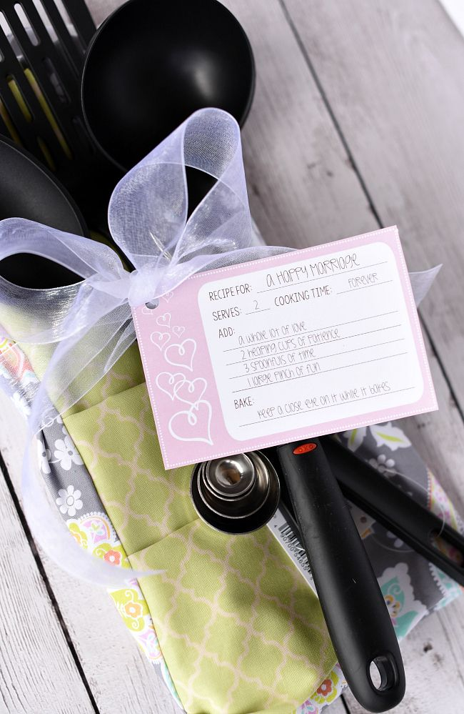 best bridal shower gifts for guests%0A Bridal Shower Gift IdeaRecipe for a Happy Marriage