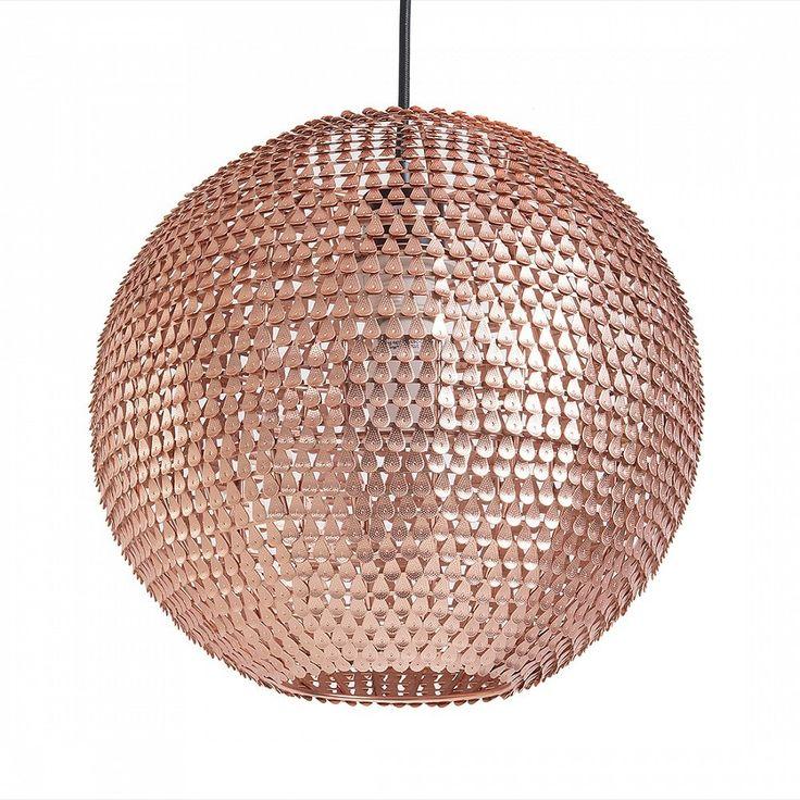 Lampe de plafond - suspension - plafonnier - luminaire cuivre - Seine: Beliani: Amazon.fr: Cuisine & Maison