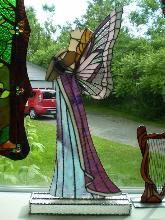 3D Butterfly Angel-AmberLyn's STG - Delphi Stained Glass