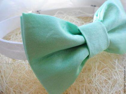 Галстук бабочка Мятный - мятный,однотонный,галстук,галстук бабочка,галстук бабочка купить
