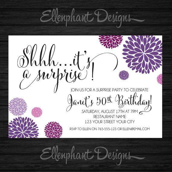 1st birthday party digital personaized invitations