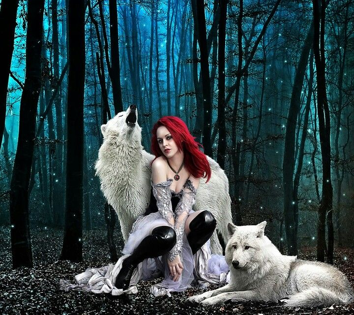 Wolves Girls And Wolf Girl: Niceee....redhead With Wolves :-)