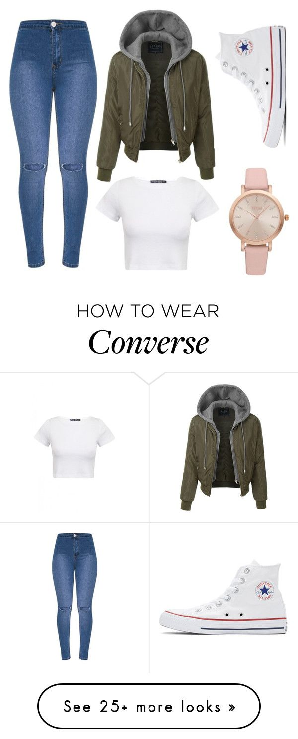 """Untitled #130"" by veronicavolfova on Polyvore featuring LE3NO, Converse and Vivani"