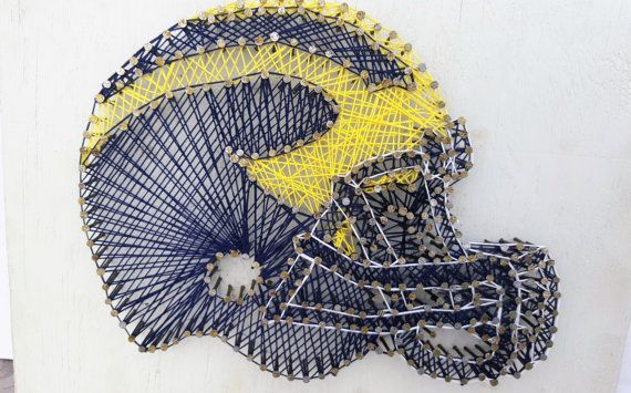 Michigan Football | Michigan Wolverines | Michigan Football String Art | U of M String Art | Football | Husband Gift | College Football