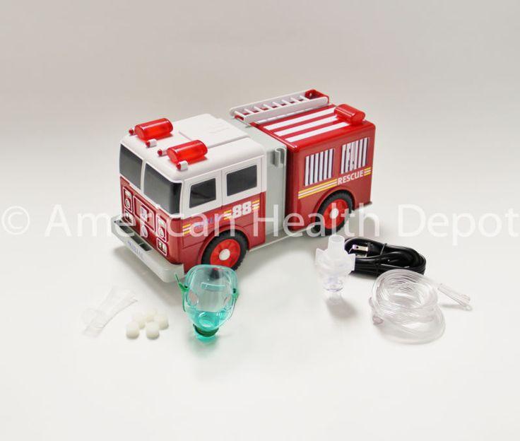 Child Pediatric Nebulizer Aerosol Compressor for Asthma COPD Fire Engine Model #ad