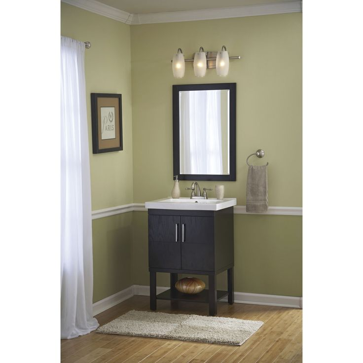 redoing bathroom%0A Shop Style Selections Foley Espresso Integral Single Sink Bathroom Vanity  with Vitreous China Top  Common