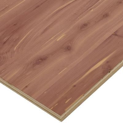 Project Panels Aromatic Cedar Plywood (Price Varies by Size) - 2526 at The Home Depot