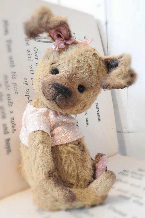 Beatrice  A Hand Sewn Artist Rabbit Teddy Bear