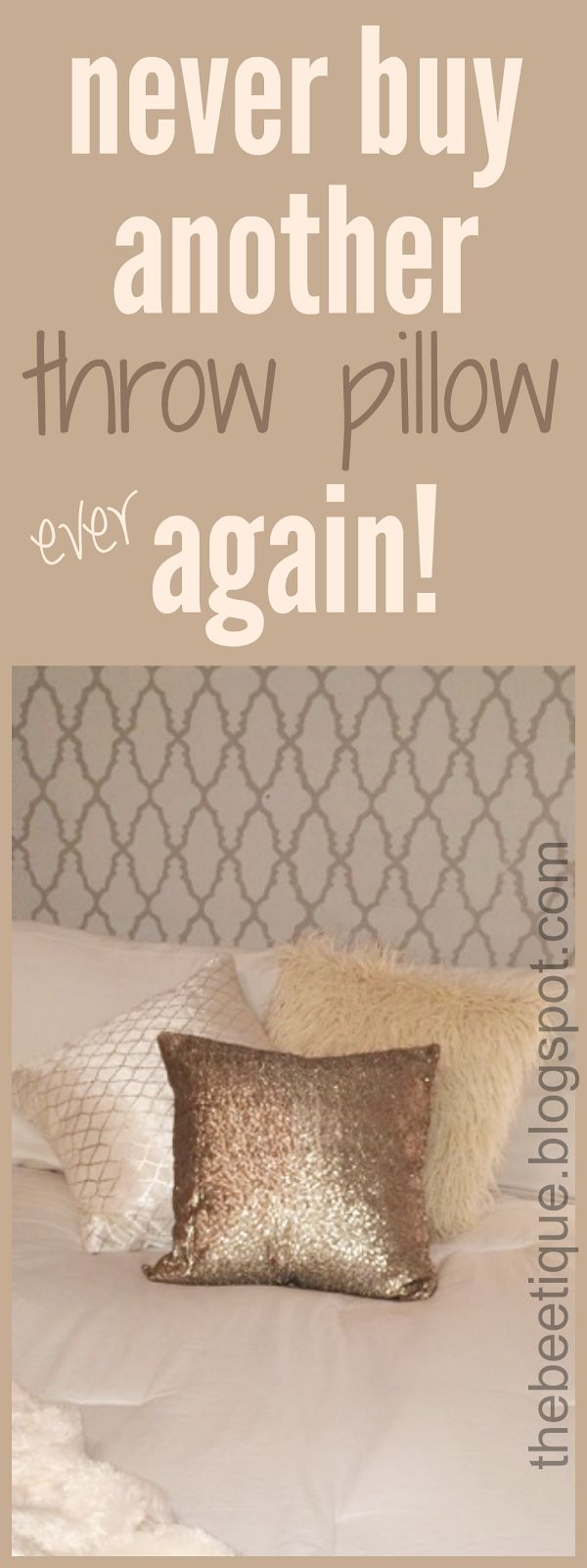 Whyyy are throw pillows so expensive? Never buy another throw pillow again - find out how I got all 3 of these throw pillows for under $10 each. Affordable faux fur and sequin throw pillows for your shabby chic diva bedroom <3 via thebeetique.blogspot.com #ThrowPillow