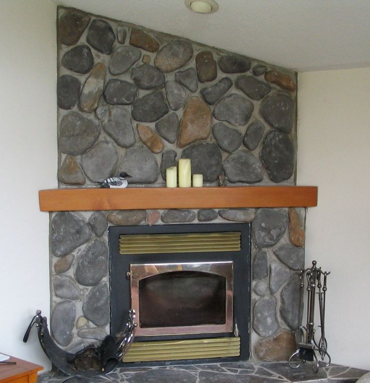 Wood Stove Inserts Fieldstone Fireplace With Wood Mantle And Insert Decoration Inspiration