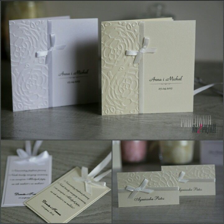Zaproszenia i dodatki ślubne