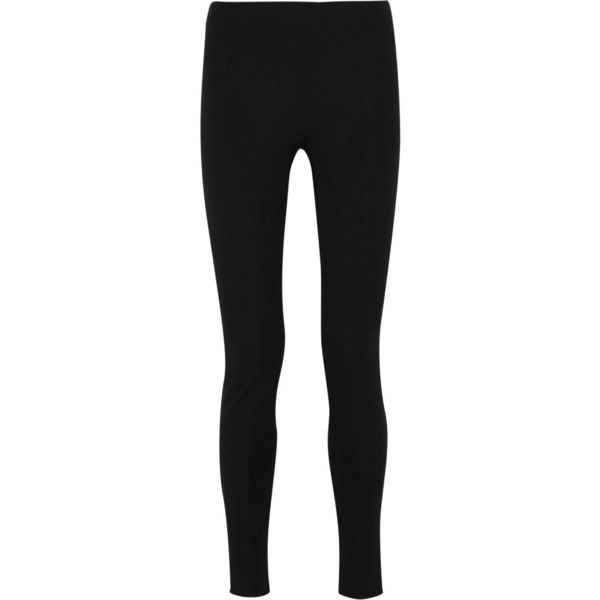 Joseph Stretch-gabardine leggings-style pants (€245) ❤ liked on Polyvore featuring pants, leggings, black, skinny pants, black skinny trousers, black stretchy pants, black stretch leggings and gabardine pants