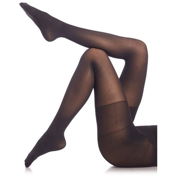 Spanx Luxe Leg Tights ($28) ❤ liked on Polyvore featuring intimates, hosiery, tights, very black, spanx stockings, high rise tights, spanx tights, spanx hosiery and spanx pantyhose
