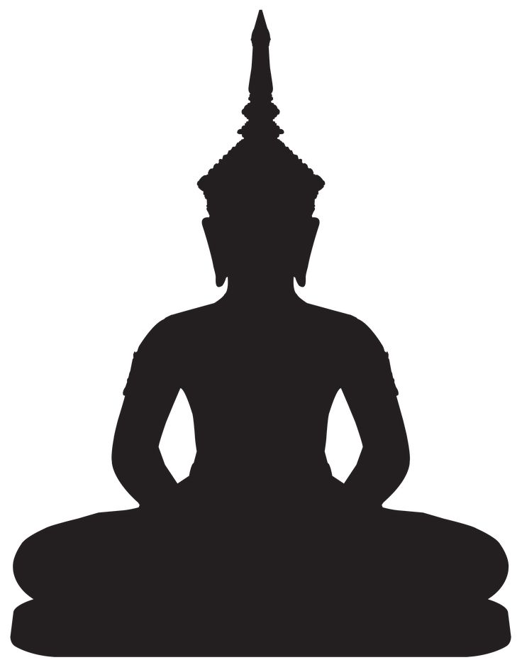Buddha Statue Silhouette PNG Clip Art - Best WEB Clipart