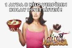 1 Ayda 8 Kilo Verdiren Kolay Diyet Listesi !
