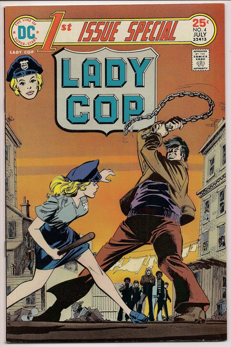 "LADY COP #1 First Issue Special #4, 1975, Rutina Wesley,Liza Warner,Robert,Kanigher,John Rosenberger,""DC's Legends of Tomorrow"" Gotham,Arrow"