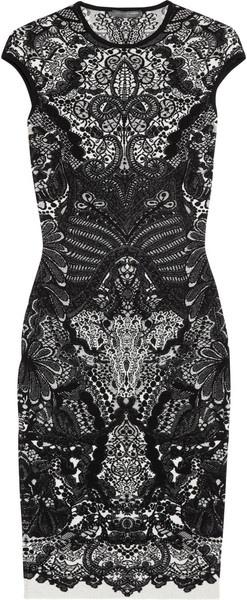 ALEXANDER MCQUEEN Wool blend Intarsia Dress: Dresses Black, Date Dresses, Black Lace, Wool Blend, Alexander Mcqueen Dresses, Mcqueen Wool, Blend Intarsia, Intarsia Dresses, Black Wool