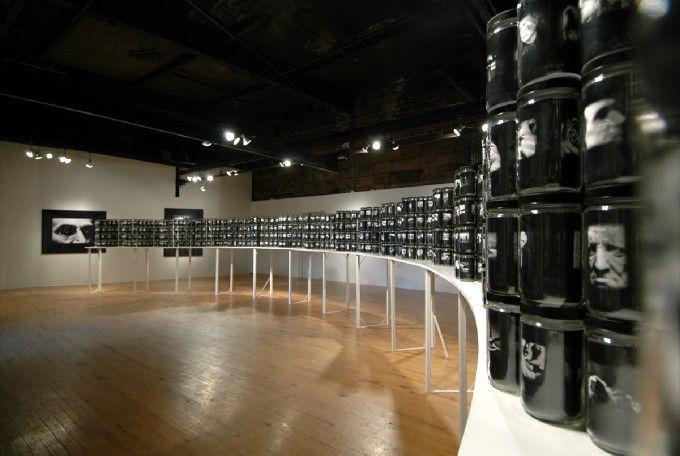 Robert Hirsch. World in a Jar: War & Trauma Electrostatic prints in glass jars.