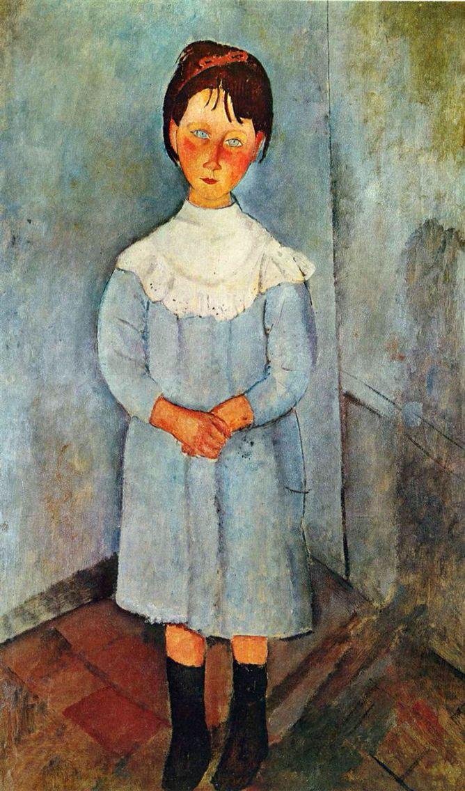 Девочка в синем 1918