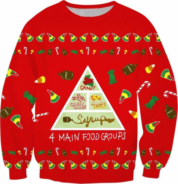 Elf Food Groups Sweatshirt