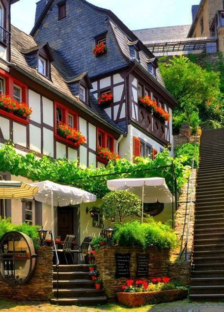 "Town Beilstein called the ""Sleeping Beauty of the Moselle"" - Rhineland-Palatinate, Germany"