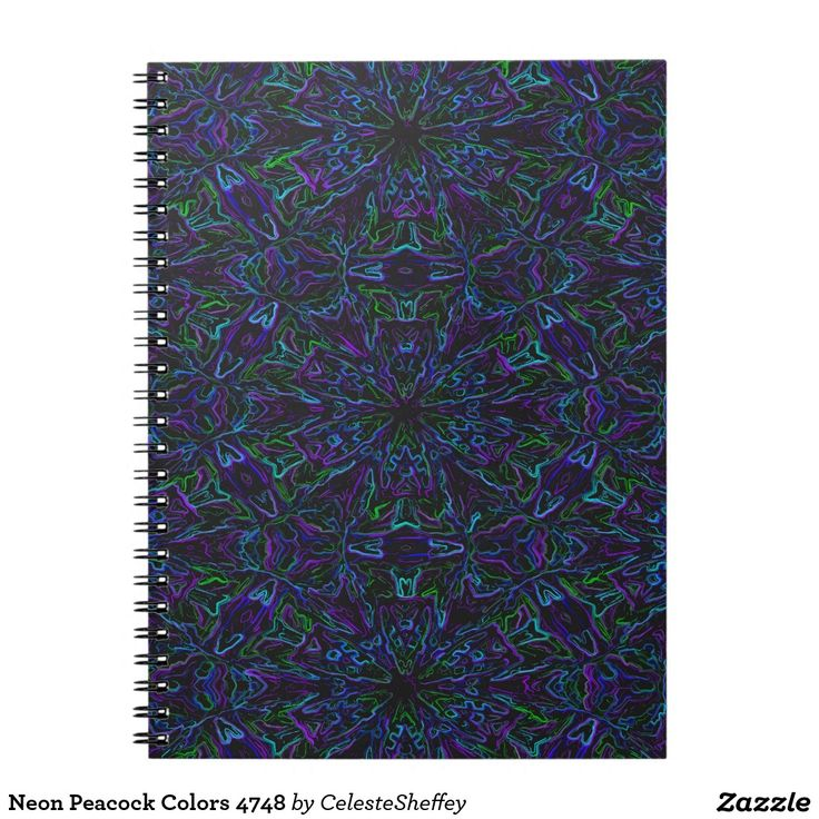 Neon Peacock Colors 4748 Notebook